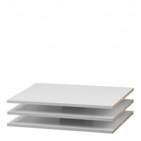 Verona Set of 3 Shelves - Narrow (for 120cm wardrobe) in White