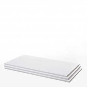 Verona Set of 3 Shelves - Wide (for 180cm wardrobe) in White