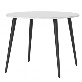 Oslo Dining Table - Small (100cm) in White and Black Matt