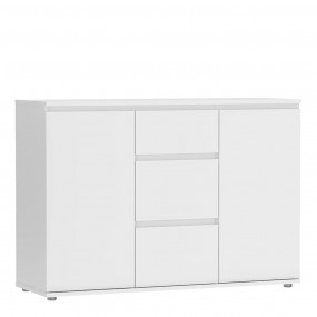 Nova Sideboard - 3 Drawers 2 Doors in White