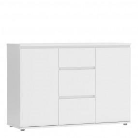 Nova Sideboard - 3 Drawers 2 Doors in White