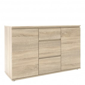 Nova Sideboard - 3 Drawers 2 Doors in Oak