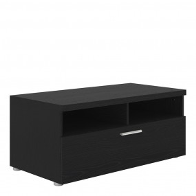Napoli TV Unit 1 Drawer 2 Shelves in Black Woodgrain