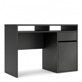 Function Plus Desk 1 Door 1 Drawer in Black