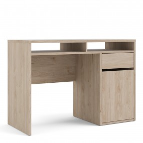 Function Plus Desk 1 Door 1 Drawer in Jackson Hickory Oak