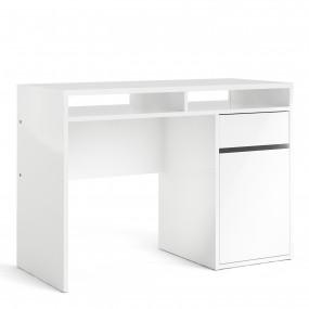 Function Plus Desk 1 Door 1 Drawer in White