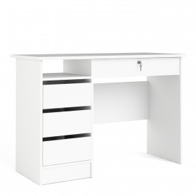 Function Plus Desk (3+1) handle free Drawer in White