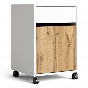 Function Plus Mobile cabinet in White and Wotan Light Oak