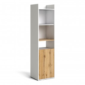 Function Plus Bookcase in White and Wotan Light Oak