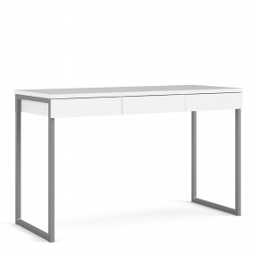Function Plus Desk 3 Drawers in White