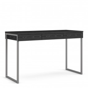 Function Plus Desk 3 Drawers in Black