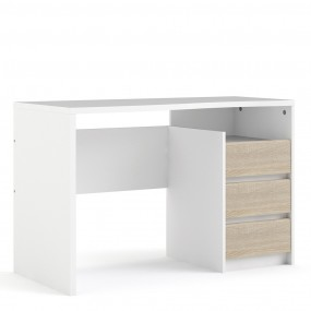 Function Plus Desk 3 drawers White Oak structure FSC Mix 70 % NC-COC-060652