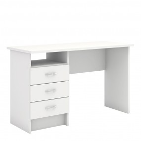 Function Plus Desk 3 Drawers in White FSC Mix 70 % NC-COC-060652