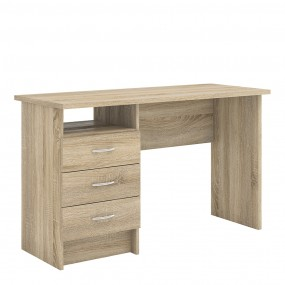 Function Plus Desk 3 Drawers in Oak