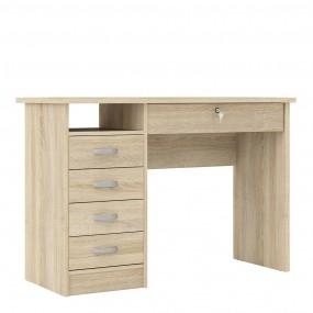 Function Plus Desk 5 Drawers in Oak