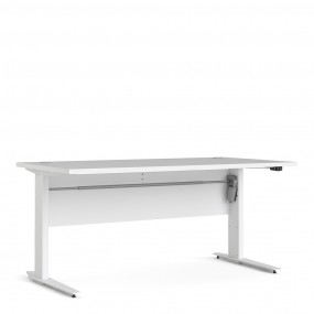 Prima Desk 150 cm in White with Height adjustable legs with electric control in White