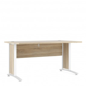 Prima Desk 150 cm in Oak with White legs