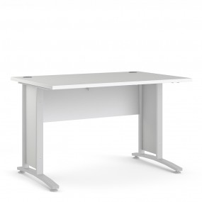 Prima Desk 120 cm in White with White legs