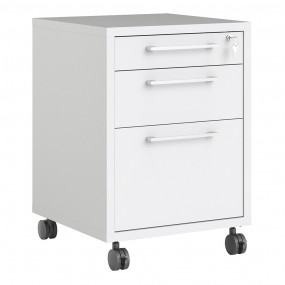 Prima Mobile file cabinet in White