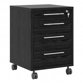 Prima Mobile cabinet in Black woodgrain