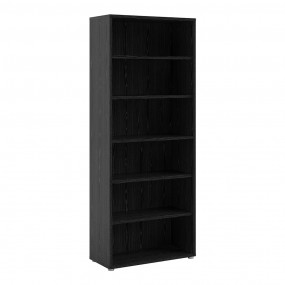 Prima Bookcase 5 Shelves in Black woodgrain