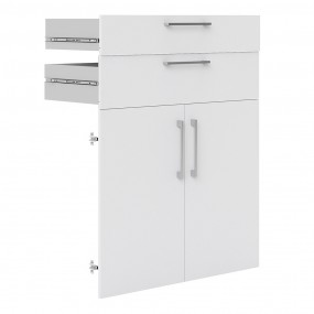 Prima 2 Drawers and 2 Doors in White