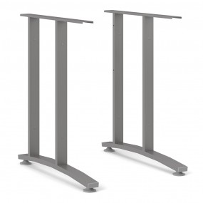 Prima 2 Legs 72 cm in Silver grey steel