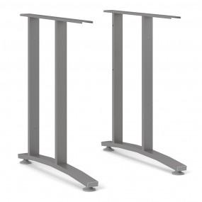 Prima 2 Legs 72 cm in Silver grey steel