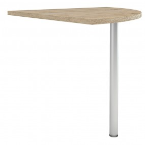 Prima Corner desk top in Oak with Silver grey steel legs