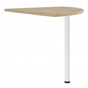 Prima Corner desk top in Oak with White legs