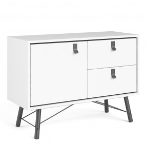 Ry Sideboard with 1 door + 2 drawers in Matt White