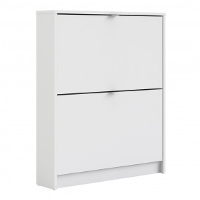 Shoes Shoe cabinet  w. 2 tilting doors and 1 layer.