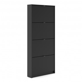 Shoes Shoe cabinet  w. 4 tilting doors and 1 layer