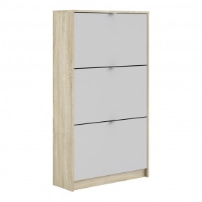 Shoes Shoe cabinet  w. 3 tilting doors and 2 layers