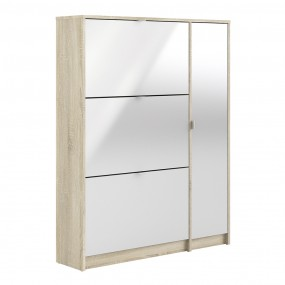 Shoes Shoe cabinet w. 3 tilting doors and 2 layers +  1 door