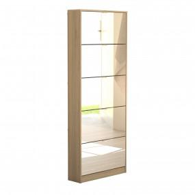 Shoes Shoe cabinet 5 Mirror tilting Doors in Oak