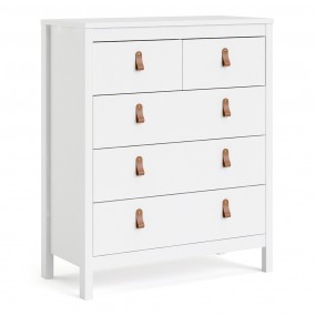 Barcelona Chest 3+2 drawers in White