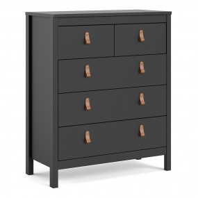 Barcelona Chest 3+2 drawers in Matt Black