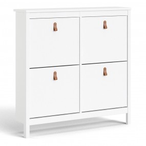Barcelona Shoe cabinet 4 compartments in White