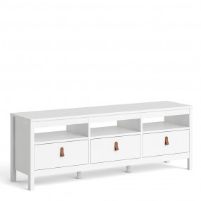 Barcelona Tv-unit 3 drawers in White