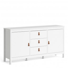 Barcelona Sideboard 2 doors + 3 drawers in White