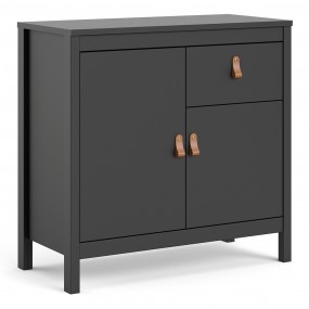 Barcelona Sideboard 2 doors + 1 drawer in Matt Black