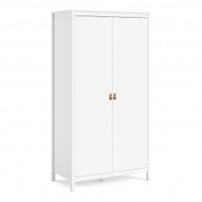 Barcelona Wardrobe with 2 doors in White