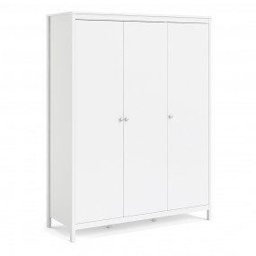Madrid Wardrobe with 3 doors in White