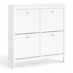 Madrid Shoe cabinet 4 compartments in White