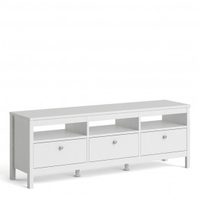Madrid Tv-unit 3 drawers in White