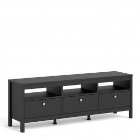 Madrid Tv-unit 3 drawers in Matt Black