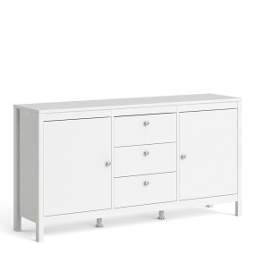 Madrid Sideboard 2 doors + 3 drawers in White