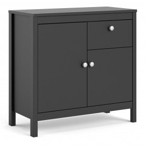Madrid Sideboard 2 doors + 1 drawer in Matt Black