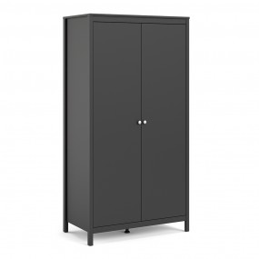 Madrid Wardrobe with 2 doors in Matt Black
